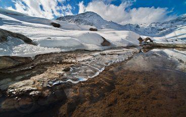 La prima neve in Dolomiti, turismo lento.