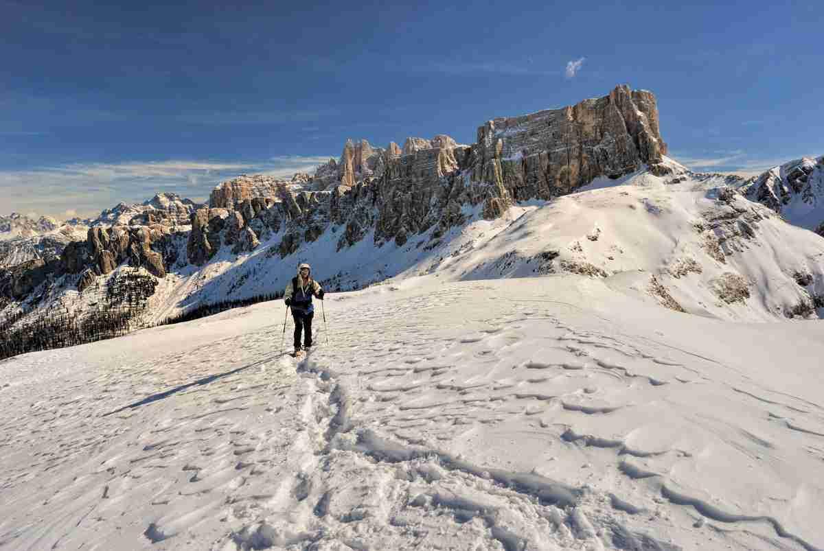 Passo del Nuvolau, Lastei di Formin, inverno