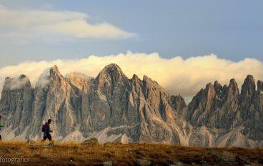Latzfonser Kreutz, super-panorama fotografico sulle Dolomiti