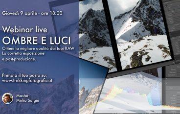 """Pillole fotografiche #3: Webinar gratuito online """"Ombre e luci"""""""